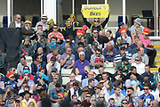 Spectators enjoying finals day during the Vitality T20 Finals Day semi final 2018 match between Sussex Sharks and Somerset County Cricket Club at Edgbaston, Birmingham, United Kingdom on 15 September 2018.