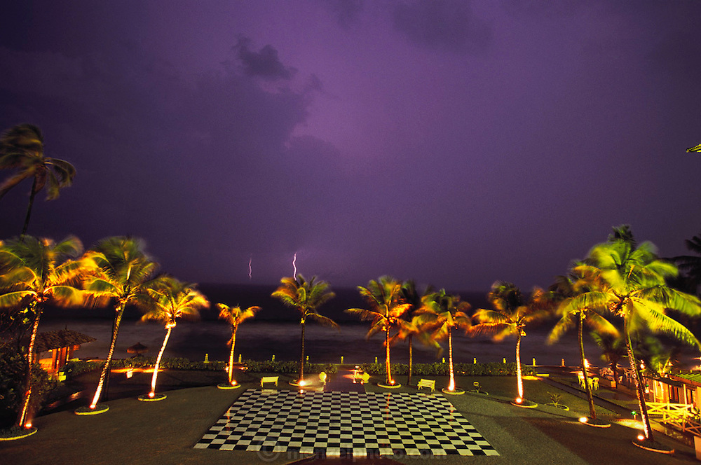 Lightning at Galle Hotel in Colombo, Sri Lanka.