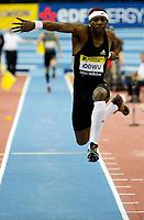 Photo: Richard Lane/Richard Lane Photography. <br />Norwich Union Grand Prix. 16/02/2008. Great Britain's Phillips Odowu in the men's triple jump.