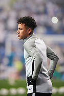 Neymar (forward; Paris Saint-Germain) in action during the UEFA Champions League match between Real Madrid and Paris Saint-Germain at Santiago Bernabeu on February 14, 2018 in Madrid, Spain