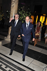 Left to right, MARTIN ROTH Director of the V&A and HRH PRINCE MICHAEL OF KENT at a private view of Photographs by Cecil Beaton celebrating the diamond jubilee of HM The Queen Elizabeth 11 at the Victoria & Albert Museum, Cromwell Road, London on 6th February 2012.