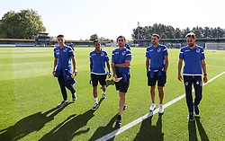 Bristol Rovers players checking out the pitch - Mandatory by-line: Arron Gent/JMP - 21/09/2019 - FOOTBALL - Cherry Red Records Stadium - Kingston upon Thames, England - AFC Wimbledon v Bristol Rovers - Sky Bet League One
