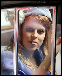 Princess Beatrice arrives at St Pauls Cathedral for the National Service of Thanksgiving celebrating the Queens Diamond Jubilee,Tuesday June 5, 2012. Photo By Andrew Parsons/i-Images