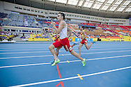 Adam Kszczot from Poland competes in men's 800 meters qualification during the 14th IAAF World Athletics Championships at the Luzhniki stadium in Moscow on August 10, 2013.<br /> <br /> Russian Federation, Moscow, August 10, 2013<br /> <br /> Picture also available in RAW (NEF) or TIFF format on special request.<br /> <br /> For editorial use only. Any commercial or promotional use requires permission.<br /> <br /> Mandatory credit:<br /> Photo by © Adam Nurkiewicz / Mediasport