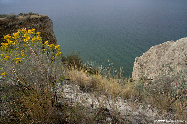 cliffs in the okanagan overlooking the ocean