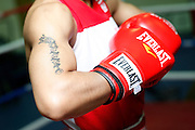 6/24/11 2:58:31 PM -- Colorado Springs, CO. -- A portrait of U.S. Olympic lightweight boxer Queen Underwood, 27, of Seattle, Wash. who will be competing for her fifth title. She began boxing in 2003 and was the 2009 Continental Champion and the 2010 USA Boxing National Champion. She is considered a likely favorite to medal at the 2012 Summer Olympics in London as women's boxing makes its debut as an Olympic sport. -- ...Photo by Marc Piscotty, Freelance.