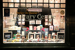 UK ENGLAND FOWEY 19FEB15 - Shop window of the Daphne Du Maurier literary centre in Fowey, Cornwall, England. Fowey, a small fishing and harbour village was the living place of famous English writer Daphne Du Maurier and many of her novels are based here.<br /> <br /> jre/Photo by Jiri Rezac<br /> <br /> © Jiri Rezac 2015