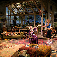 The Chalk Garden by Enid Bagnold;<br /> Directed by Alan Strachan;<br /> Penelope Keith (as Mrs St Maugham);<br /> Emma Curtis (as Laurel);<br /> Chichester Festival Theatre, Chichester.<br /> 30 May 2018;<br /> © Pete Jones<br /> pete@pjproductions.co.uk