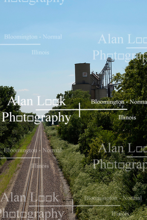 09 June 2012:   Farm Services (FS) Grain elevator, storage and processing plant in Shirley Illinois.