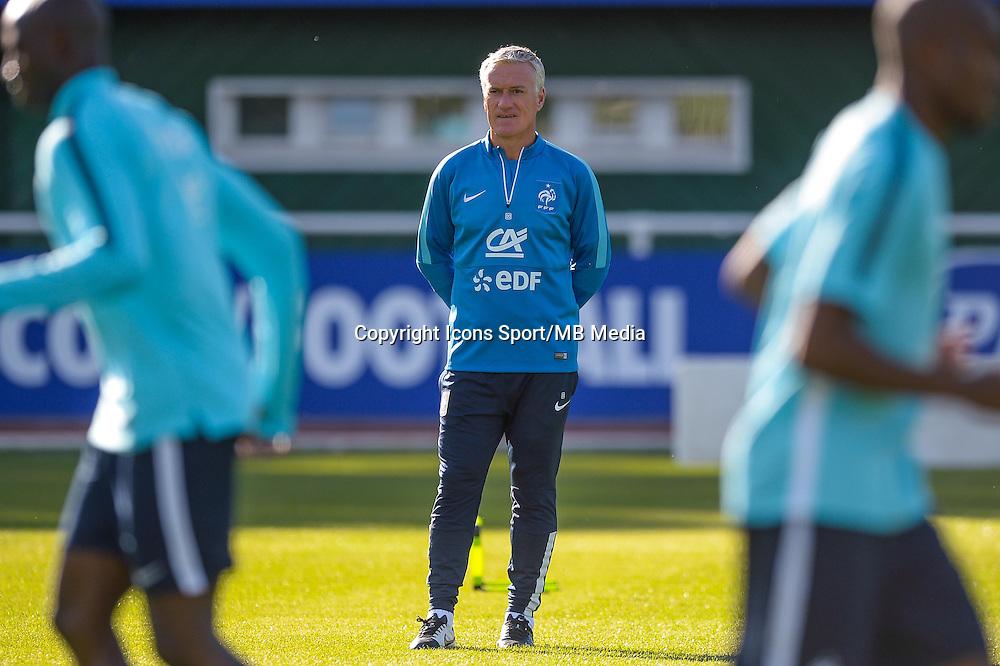 Didier Deschamps - 01.06.2015 - Entrainement -Equipe de France -Clairefontaine<br /> Photo : Andre Ferreira / Icon Sport