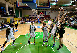 Edo Muric of Krka vs Vladimer Boisa of Olimpija during basketball match between KK Krka and Union Olimpija in 5th Round of Final of Slovenian National Championship, on June 11, 2011 in  Arena Leon Stukelj, Novo mesto, Slovenia. (Photo By Vid Ponikvar / Sportida.com)