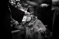 Egypt, Cairo: Father Samaan Ibrahim performs the ritual of exorcism on a Muslim woman in Deyr el Qiddis Samaan (Monastery of St.Simon) in Manshyet Naser el Moqattam. ph.Christian Minelli..