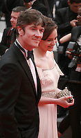 Barry Ward and Aisling Franciosi at Jimmy's Hall gala screening red carpet at the 67th Cannes Film Festival France. Thursday 22nd May 2014 in Cannes Film Festival, France.