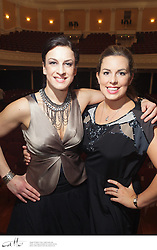 Lexus Song Quest winner Madeleine Pierard (soprano) meets 2012 contestant Bryony Williams on stage at Wellington Town Hall.