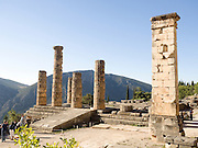 Temple of Apollo st Delphi UNESCO World Heritage Site Greece Europe