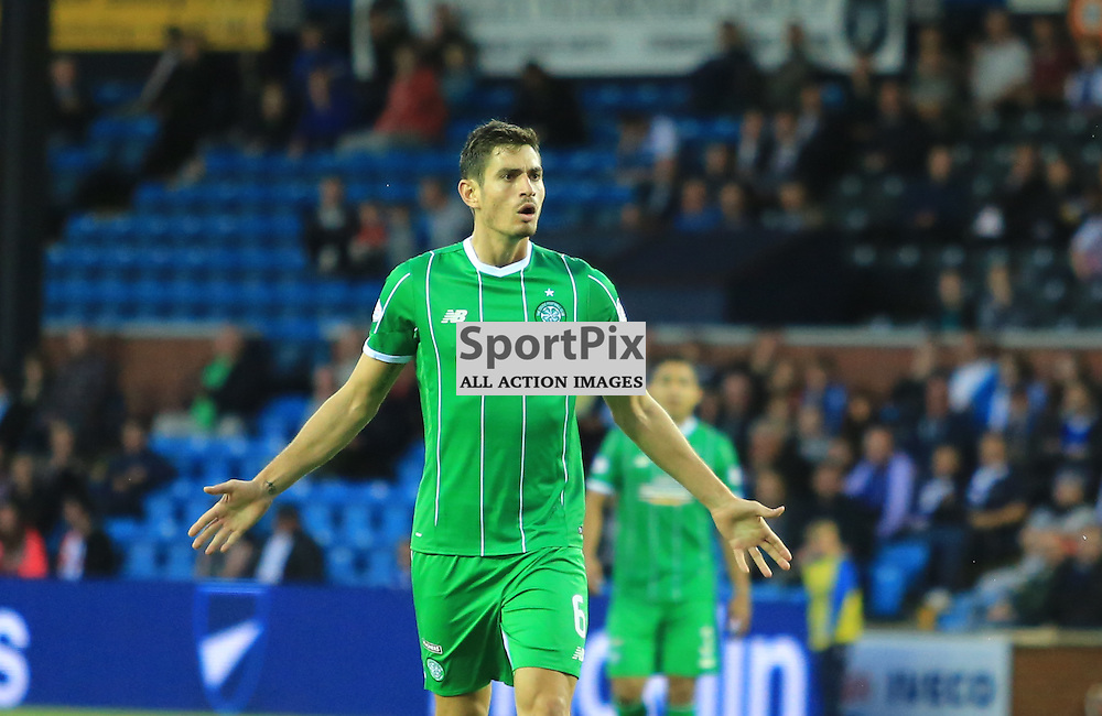 Celtic's Tomas Rogić  celebrates after firing in an unstoppable shot to put celtic in front during the Kilmarnock FC V Glasgow Celtic FC Scottish Premiership 12th August 2015 ©Edward Linton   SportPix.org.uk