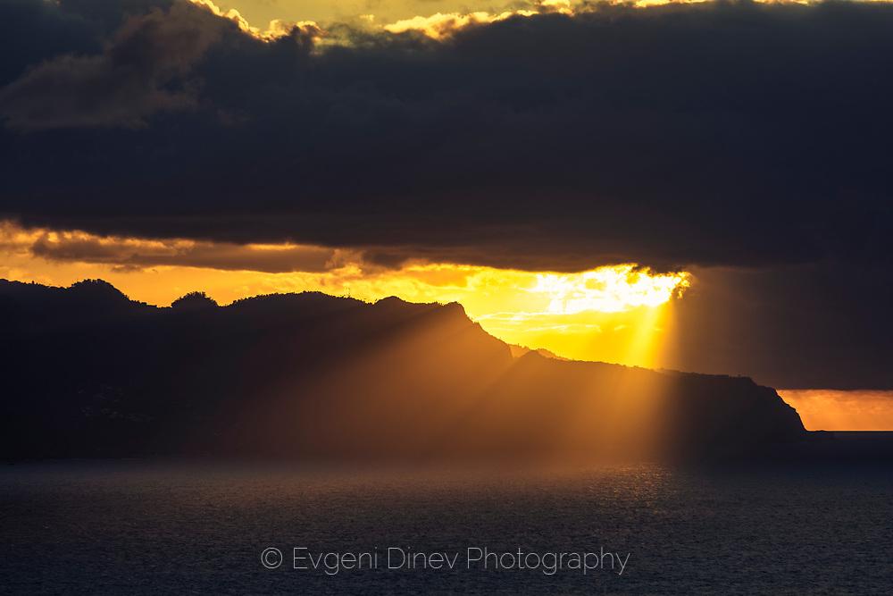Golden sunset in Madeira