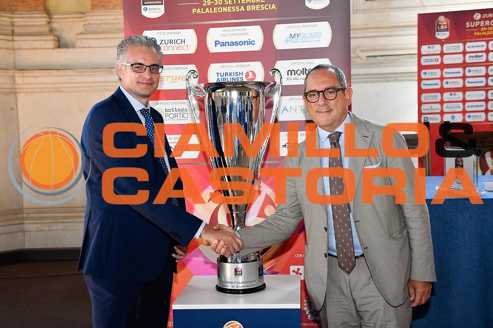 roccaforte bianchi<br /> presentazioe supercoppa 2018<br /> Legabasket Serie A 2018/19<br /> Brescia, 24/09/2018<br /> Ciamillo-Castoria
