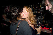 TRACEY EMIN; JERRY HALL, Cloak and Dagger, - Amanda Eliasch - book launch - Entertainment by Miss Polly Rae and her Hurly Burly girls. <br /> Soho Revue Bar, 11-12 Walkers Court, London *** Local Caption *** -DO NOT ARCHIVE-© Copyright Photograph by Dafydd Jones. 248 Clapham Rd. London SW9 0PZ. Tel 0207 820 0771. www.dafjones.com.