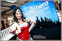 Picture by Shaun Fellows  / Shine pix Meet Wonder Woman<br /> <br /> When army pilot Steve Trevor crashes on the warriors&rsquo; secluded island paradise, Princess Diana of the immortal Amazons, otherwise known as Wonder Woman, wins the right to escort him home and make her people known to the world.<br /> <br /> Entering our world for the first time, she is torn between a mission to promote peace and her own warrior upbringing however she has help from her superhuman strength, speed, as well as the trademark bulletproof bracelets and her Golden Lasso of Truth.<br /> <br /> Book your space to meet Wonder Woman on Monday 15 August between 11am - 3pm