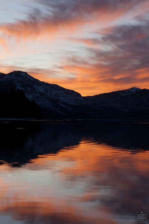 """Donner Lake Sunset 4"" - This sunset was photographed from the East end of Donner Lake, Truckee."