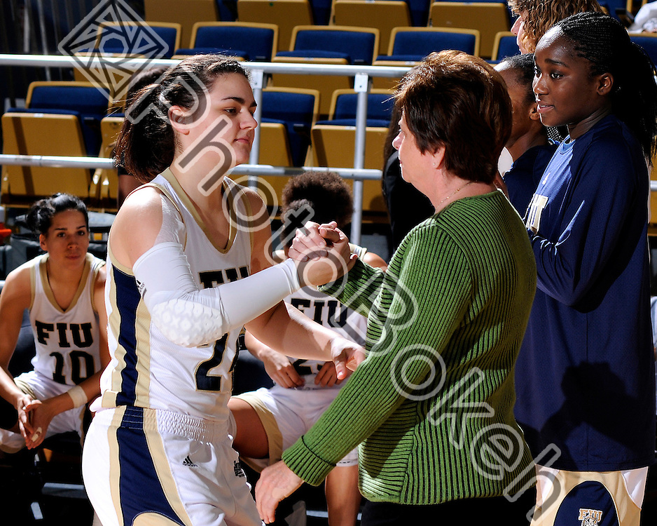 30 December 2010 - FIU Women's Basketball fell to Georgia, 65-70 at U.S. Century Bank Arena, Miami, FL.