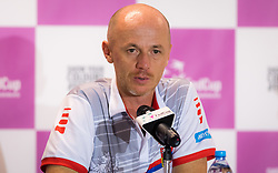 November 10, 2018 - Prague, Czech Republic - Petr Pala talks to the media at the 2018 Fed Cup Final between the Czech Republic and the United States of America (Credit Image: © AFP7 via ZUMA Wire)