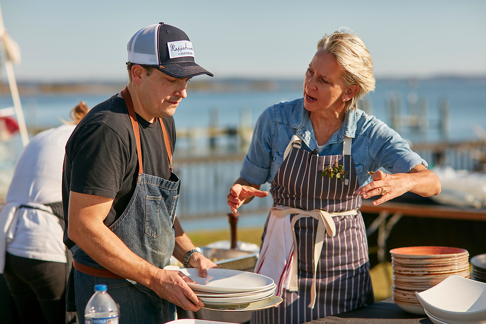 Pizza Club Fire Flour Fork, 2017, Bounty by the Bay, featuring chefs Dylan Fultineer and Gabrielle Hamilton at Merroir, featuring Rappahannock River oysters