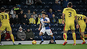 Adam Henley (Blackburn Rovers) runs at the Rotherham defenders during the Sky Bet Championship match between Blackburn Rovers and Rotherham United at Ewood Park, Blackburn, England on 11 December 2015. Photo by Mark P Doherty.