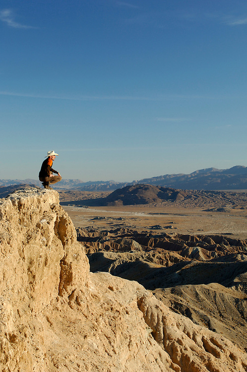 Person standing at Font's Point, Anza Borrego Desert State Park, California, United States of America