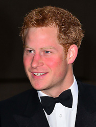 Prince Harry, Patron of the Walking With The Wounded South Pole Allied Challenge, attends the charity's Crystal Ball at the Grosvenor House Hotel, central London.<br />
