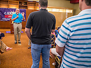 08 SEPTEMBER 2012 - SURPRISE, AZ:   Dr. RICHARD CARMONA answers voters' questions during a campaign town hall in Surprise, AZ. Carmona, a Democrat, is from Tucson, AZ. He is a former US Surgeon General, former Green Beret, and former SWAT Police officer, is running for the US Senate being vacated by Republican Sen. Jon Kyl. His opponent in the November election is Rep. Jeff Flake, a long serving Congressman from Mesa, a suburb of Phoenix.  PHOTO BY JACK KURTZ