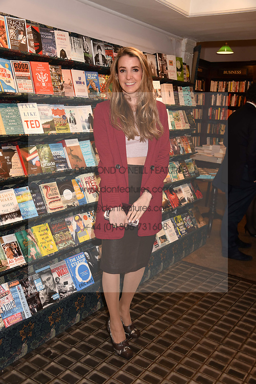Princess Tessy of Luxembourg at a party to celebrate the publication of Saving The World by Paola Diana at Daunt Books, Marylebone, London England. 2 May 2018.