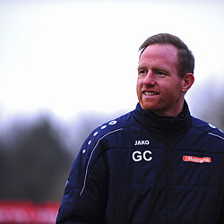 TELFORD COPYRIGHT MIKE SHERIDAN Gavin Cowan during the Vanarama Conference North fixture between AFC Telford United and Alfreton Town at The Impact Arena on Wednesday, January 1, 2020.<br /> <br /> Picture credit: Mike Sheridan/Ultrapress<br /> <br /> MS201920-038