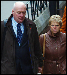 The parents of murdered schoolgirl Milly Dowler  Bob and Sally  Dowler arrives  at the Levenson inquiry into the practises of the British Press at the High court in London Monday Nov. 21, 2011, Photo by morn/ i-Images