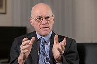 17 DEC 2019, BERLIN/GERMANY:<br /> Norbert Lammert, CDU, Vorsitzender der Konrad-Adenauer-Stiftung, KAS, waehrend einem Interview, in seinem Buero, Konrad-Adenauer-Stiftung<br /> IMAGE: 20191217-02-004<br /> KEYWORDS: Büro
