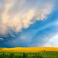 A storm brews on the Carmen Beef Ranch in Wallowa, Oregon.