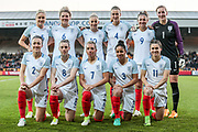 England Ladies team before the Women's International Friendly match between England Ladies and Italy Women at Vale Park, Burslem, England on 7 April 2017. Photo by Mark P Doherty.