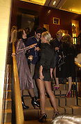 Olympia Scarry.( legs0  Christopher Bailey hosts a party to celebrate the launch of ' The Snippy World of New Yorker Fashion Artist Michael Roberts' Burberry, New Bond St.  London. 19  September 2005. ONE TIME USE ONLY - DO NOT ARCHIVE © Copyright Photograph by Dafydd Jones 66 Stockwell Park Rd. London SW9 0DA Tel 020 7733 0108 www.dafjones.com