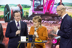 61191852<br /> Chancellor Angela Merkel and David Cameron during CeBIT 2014 Technology Trade Fair, Hanover, Germany, Monday, 10th March 2014. Picture by  imago / i-Images<br /> UK ONLY