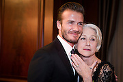 SHANGHAI, CHINA - JUNE 19: (CHINA OUT) <br /> <br /> David Beckham Attends Business Event In Shanghai <br /> <br /> David Beckham and actress Helen Mirren pose as they attend business event on June 19, 2013 in Shanghai, China.<br /> ©Exclusivepix