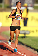 STELLENBOSCH, SOUTH AFRICA, Tuesday 20 March 2012, Nolene Conrad in the women's 3000m steeplechase during the Yellow Pages Series athletics meeting at the University of Stellenbosch Coetzenburg stadium..Photo by Roger Sedres/Image SA