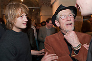 NICK HURT; JOHN HURT, The launch party of HiBrow and A Mighty Big If. ÊThe Crypt. St. Martins in the Fields. London. 24 January 2012<br /> NICK HURT; JOHN HURT, The launch party of HiBrow and A Mighty Big If.  The Crypt. St. Martins in the Fields. London. 24 January 2012