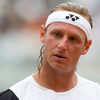 01 June 2007: Argentinian player David Nalbandian is seen during the French Tennis Open third round match won by David Nalbandian 7-6, 5-7, 6-4, 7-6, at Roland Garros, in Paris, France.