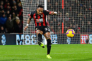 Nathaniel Clyne (23) of AFC Bournemouth clears the ball during the Premier League match between Bournemouth and Chelsea at the Vitality Stadium, Bournemouth, England on 30 January 2019.