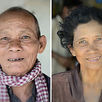 Village residents, Battambang (left), Siem Reap (right), Cambodia. Copyright 2014 Terence Carter / Grantourismo. All Rights Reserved.