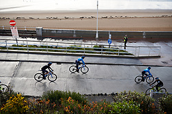 Movistar Women's Team make their way to sign on at ASDA Tour de Yorkshire Women's Race 2019 - Stage 2, a 132 km road race from Bridlington to Scarborough, United Kingdom on May 4, 2019. Photo by Sean Robinson/velofocus.com