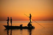 Fishing at sunset, Florida Keys