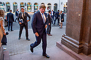 Koning Willem Alexander geeft een Riga voorafgaand aan het staatsbezoek aan de Baltische Staten een verklaring na aanleiding van het overleiden van In&eacute;s Zorreguieta,  de jongste zus van koningin M&aacute;xima.<br /> <br /> King Willem Alexander gives a Riga prior to the state visit to the Baltic States a statement following the inauguration of In&eacute;s Zorreguieta, the youngest sister of Queen M&aacute;xima.