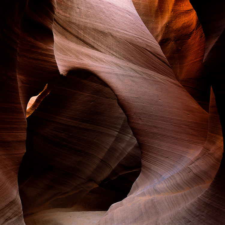 A sandstone arch is just one of the many formations that can be seen in the amazing Antelope Canyons